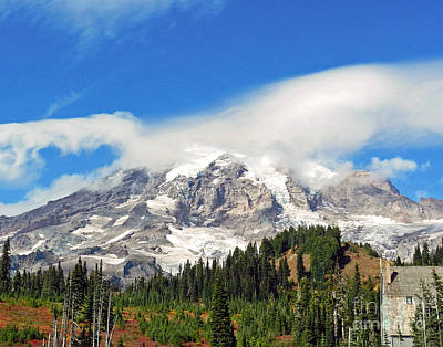 Photograph - Mt Ranier by Sue Stefanowicz