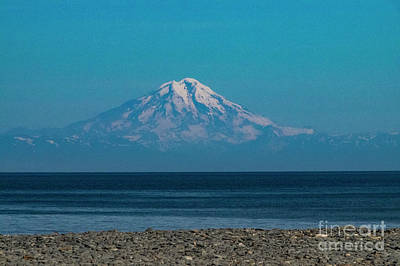 Photograph - Mt Redoubt Volcano by Louise Magno