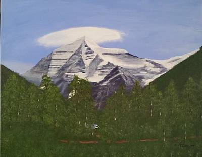 Painting - Mt. Robson, Bc by Lorraine Bradford