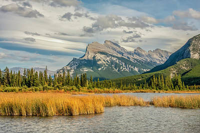 Photograph - Mt. Rundle 05 by Jim Dollar