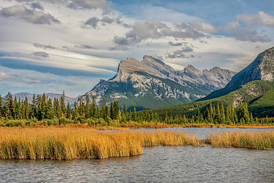 Art Print featuring the photograph Mt. Rundle 2009 05 by Jim Dollar