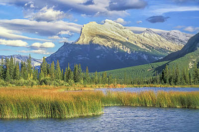Photograph - Mt. Rundle 2005 by Jim Dollar
