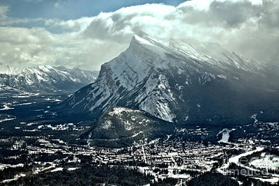 Photograph - Mt Rundle Reaching For The Sky by Adam Jewell