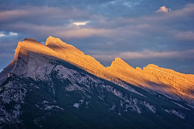 Lake Louise Photograph - Mt Rundle Sunset Banff by Joan Carroll