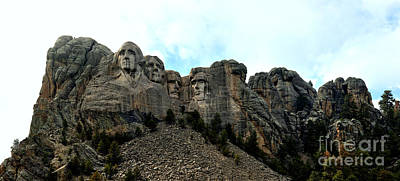 Photograph - Mt Rushmore Afternoon Panorama by Adam Jewell