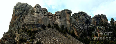 Photograph - Mt Rushmore Afternoon Panorama Crop by Adam Jewell