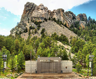 Photograph - Mt Rushmore Amphitheater by Adam Jewell