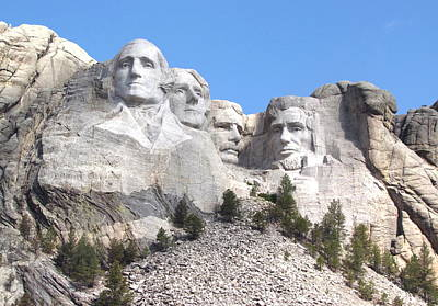Photograph - Mt Rushmore  by Angie Vogel