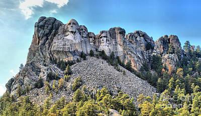 Photograph - Mt Rushmore Black Hills Panorama by Adam Jewell