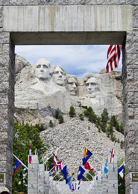 Mt Rushmore Entrance Art Print by Jon Berghoff