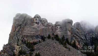 Photograph - Mt Rushmore Foggy Afternoon by Adam Jewell