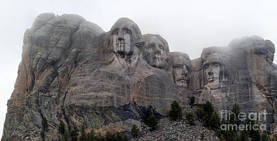 Photograph - Mt Rushmore In Fog by Adam Jewell