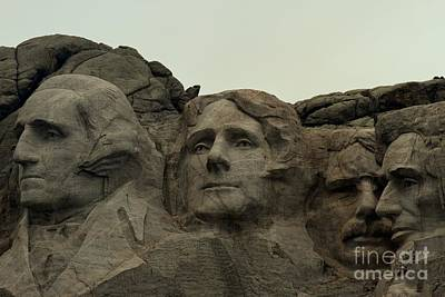 Photograph - Mt. Rushmore Presidents by Adam Jewell