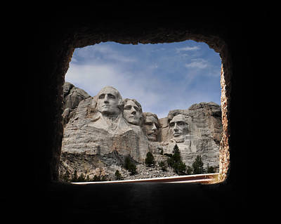 Art Print featuring the photograph Mt Rushmore Tunnel by David Lawson