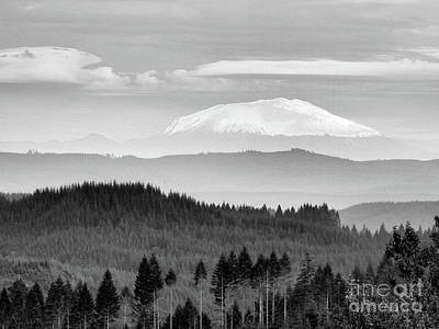 Photograph - Mt Saint Helens - A Distant View by Scott Cameron