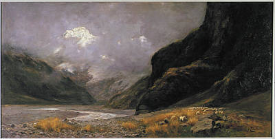 Hermitage Painting - Mt. Sefton, From Hermitage by Charles Worsley