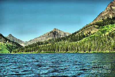Photograph - Mt Senopah Two Medicine Lake Montana by Jeff Swan