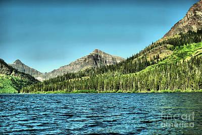 Photograph - Mt Senopah Two Medicine Lake Montana by Jeff Swan