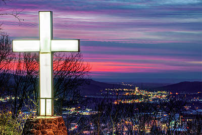 Photograph - Mt Sequoyah At Sunset - Fayetteville Arkansas by Gregory Ballos