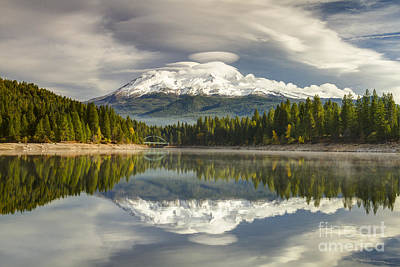 Photograph - Mt Shasta Reflections by Randy Wood