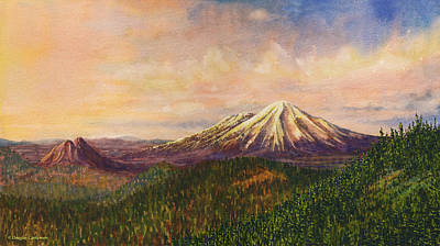 Painting - Mt. Shasta Sunset by Douglas Castleman