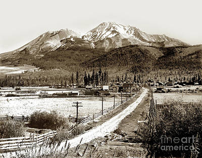 Photograph - Mt. Shasta Viewed From Sisson Lane Circa 1908 by California Views Mr Pat Hathaway Archives