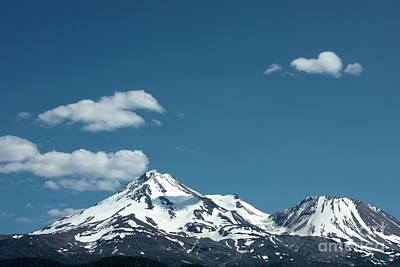 Mt Shasta With Heart-shaped Cloud Art Print by Carol Groenen