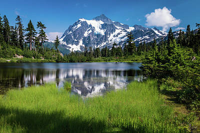 Photograph - Mt. Shuksan - Picture Lake by Chris McKenna