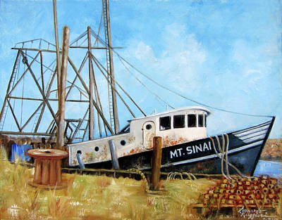 Painting - Mt. Sinai Fishing Boat by Leonardo Ruggieri