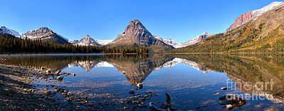 Photograph - Mt Sinopah Perfect Reflections Panorama by Adam Jewell