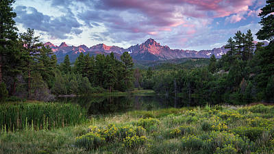 Photograph - Mt. Sneffels Sunset by Rick Strobaugh