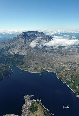 Mt. St. Helens Aerial 2225 Art Print by David Mosby