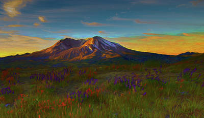 Photograph - Mt. St. Helens Sunrise by Michael Balen