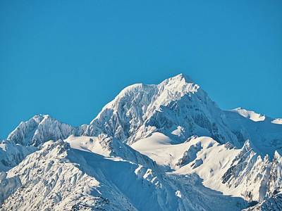 Photograph - Mt Tasman - New Zealand Alps by Steven Ralser