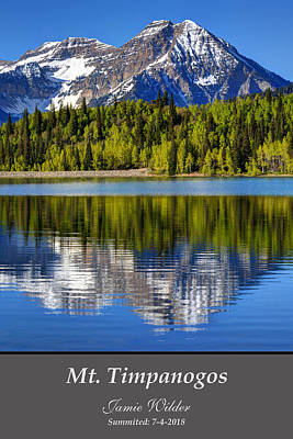 Photograph - Mt Timpanogos Personalized by Gary Whitton
