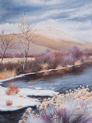 Painting - Mt. Vernon And The John Day River by Patricia Baehr-Ross
