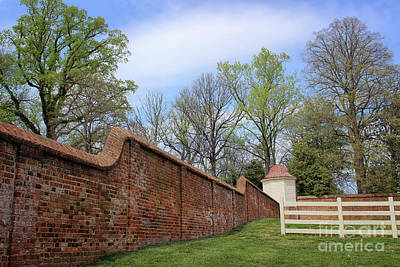 Photograph - Mt. Vernon Garden Wall by Karen Adams