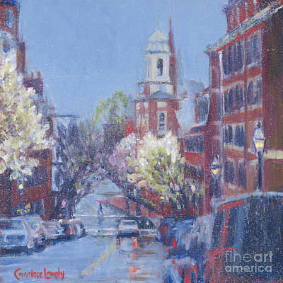 Painting - Mt. Vernon Street Showers by Candace Lovely
