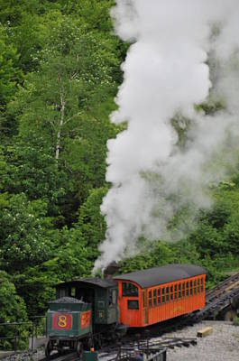 Photograph - Mt Washington Cog Railroad by Brian Hoover