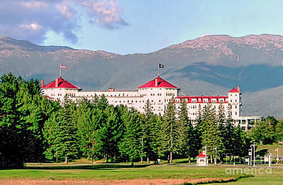 Photograph - Mt Washington Hotel Bretton Woods Nh by Janice Drew