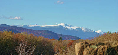 Unschooling Wall Art - Photograph - Mt Washington In The Fall With Snow  by Joe  Martin