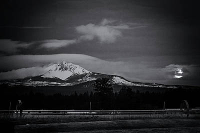 Photograph - Mt. Washington Moonset by Cat Connor