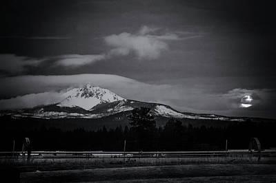 Photograph - Mt. Washington Moonset by Cat Connor
