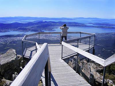 Wellington Digital Art - Mt Wellington The Lookout Hobart by Shaun Poole