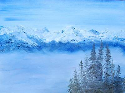 Mt. Whistler Canada  Art Print by Tina Haeger