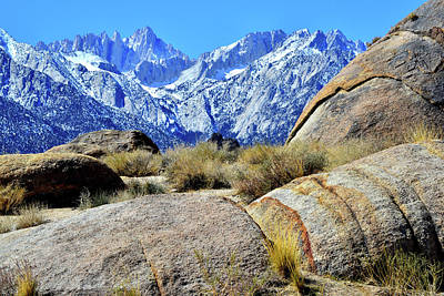 Photograph - Mt. Whitney And The Boulders Of The Alabama Hills by Ray Mathis