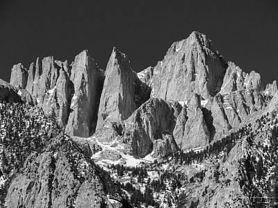 Photograph - Mt. Whitney, Ca - 0739,sw by Wally Hampton