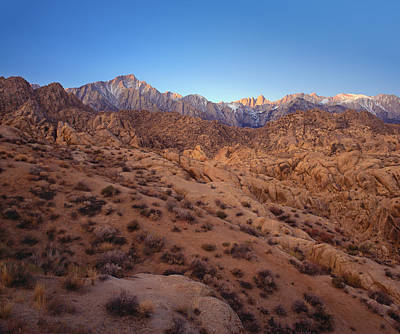 Photograph - Mt. Whitney Dawning Light by Paul Breitkreuz