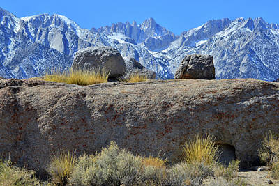 Photograph - Mt. Whitney From The Alabama Hills by Ray Mathis