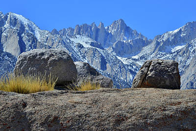 Photograph - Mt. Whitney - Highest Point In The Lower 48 States by Ray Mathis